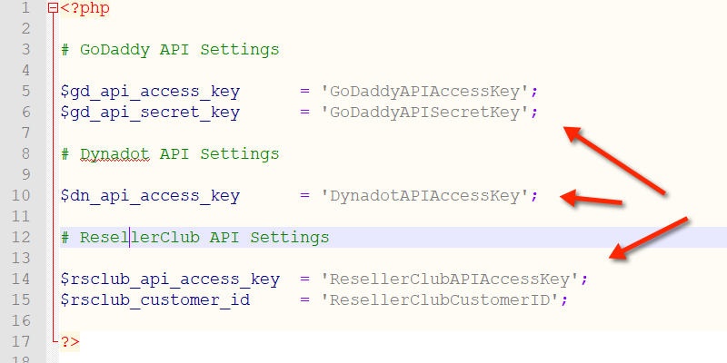 Add API Keys